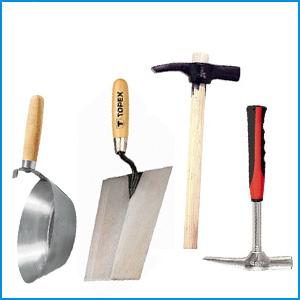 → Kőműves kalapácsok, kanalak, fándlik